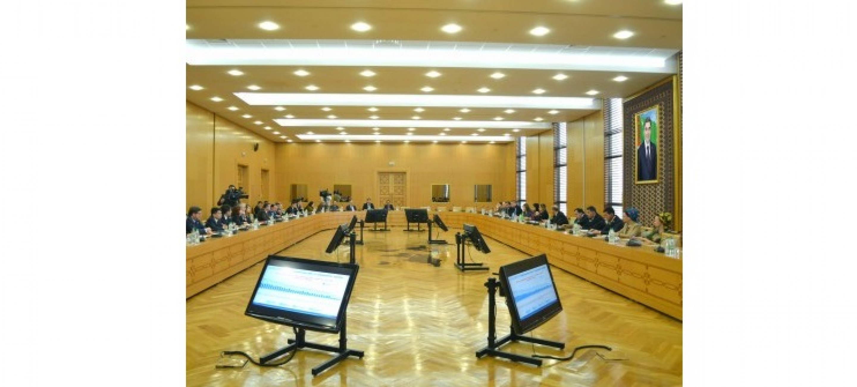 A BRIEFING WAS HELD IN THE MINISTRY OF FOREIGN AFFAIRS OF TURKMENISTAN