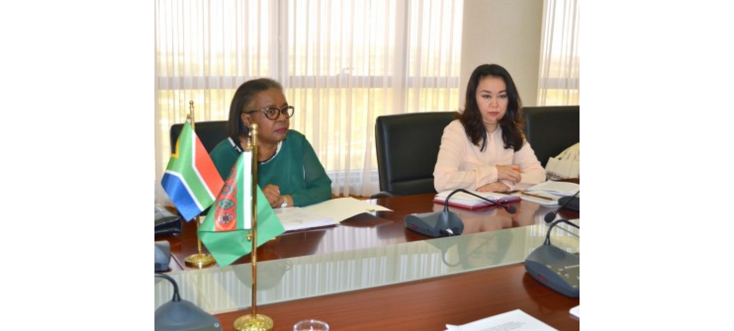 MEETING WITH THE AMBASSADOR OF THE REPUBLIC OF SOUTH AFRICA HELD AT THE MFA OF TURKMENISTAN